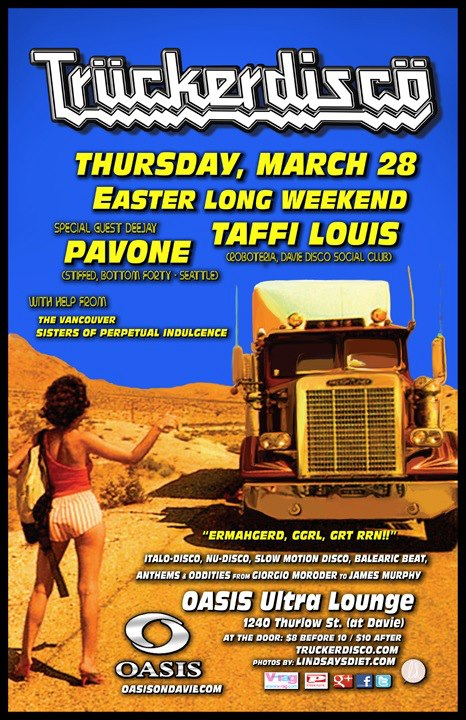 TRUCKERDISCO Easter Thursday w/ PAVONE & TAFFI LOUIS