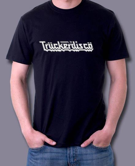 TRUCKERDISCO Classic Men's Black 100% cotton t-shirts will be available!  Save when you reserve yours with your ticket order!
